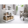 Bordeaux Small Kitchen Table - 2 Boxes, White Distressed - NSOLO-T785