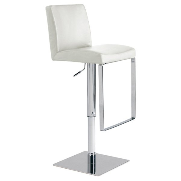 Matteo Adjustable Leather Piston Stool Swivel Dcg Stores