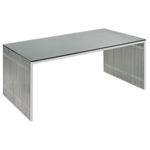 Amici Stainless Steel Office Desk