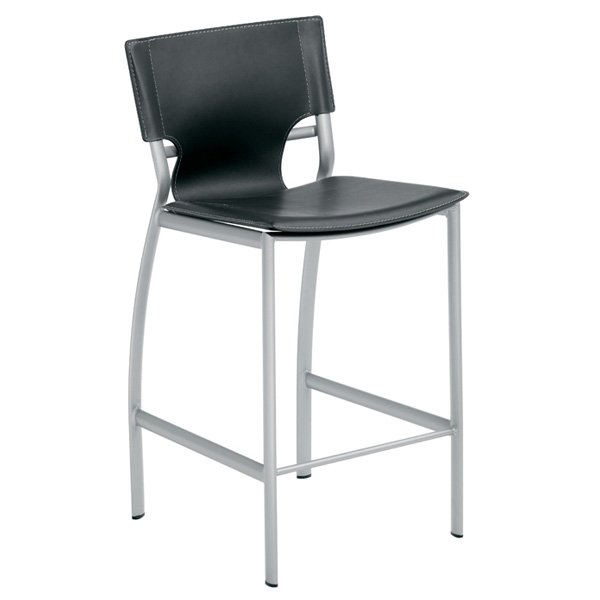 "Lisbon 28"" Leather Barstool"