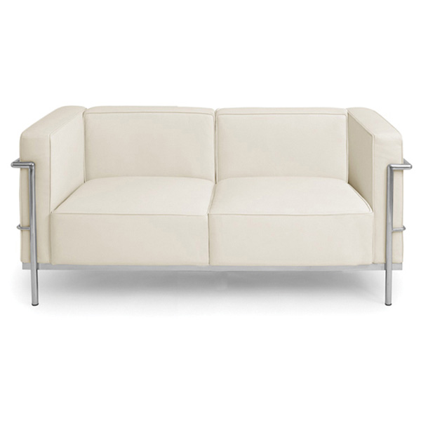 Madrid Modern Leather Loveseat
