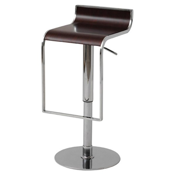 Nero Piston Swivel Stool Adjustable Wood Seat Dcg Stores