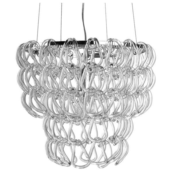 letizia petite glass chain chandelier dcg stores