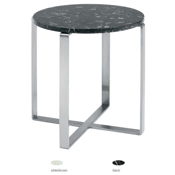 Rosa Round Marble End Table