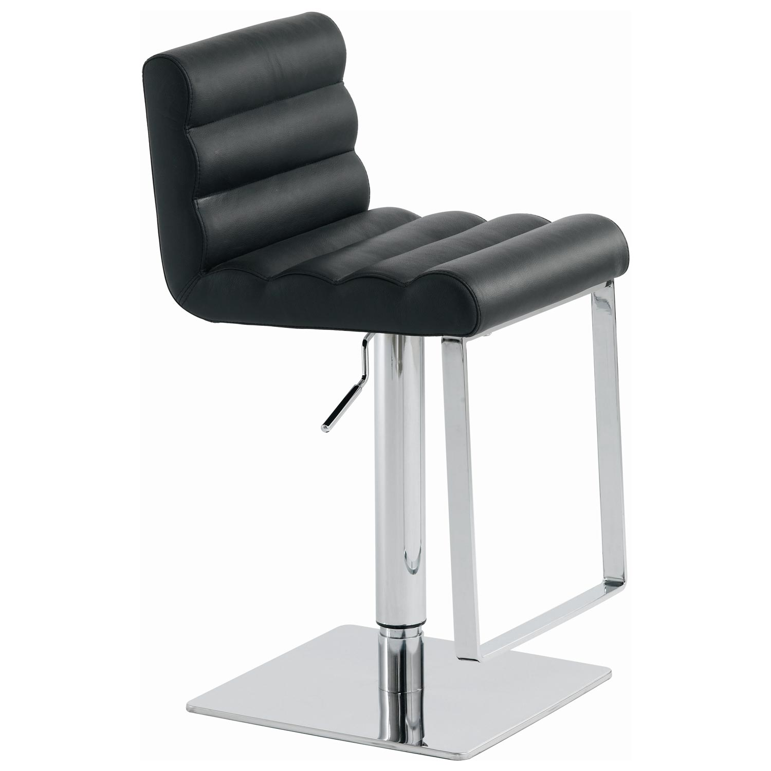 Fanning Leather Piston Stool - NVO-HGAF17X-PS