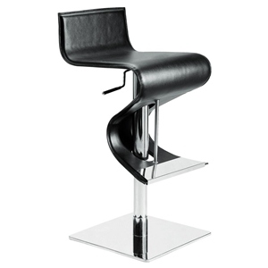 Portland Adjustable Swivel Piston Stool - Leather