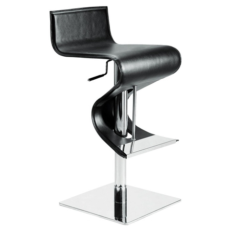 Portland Adjustable Swivel Piston Stool Leather Dcg Stores
