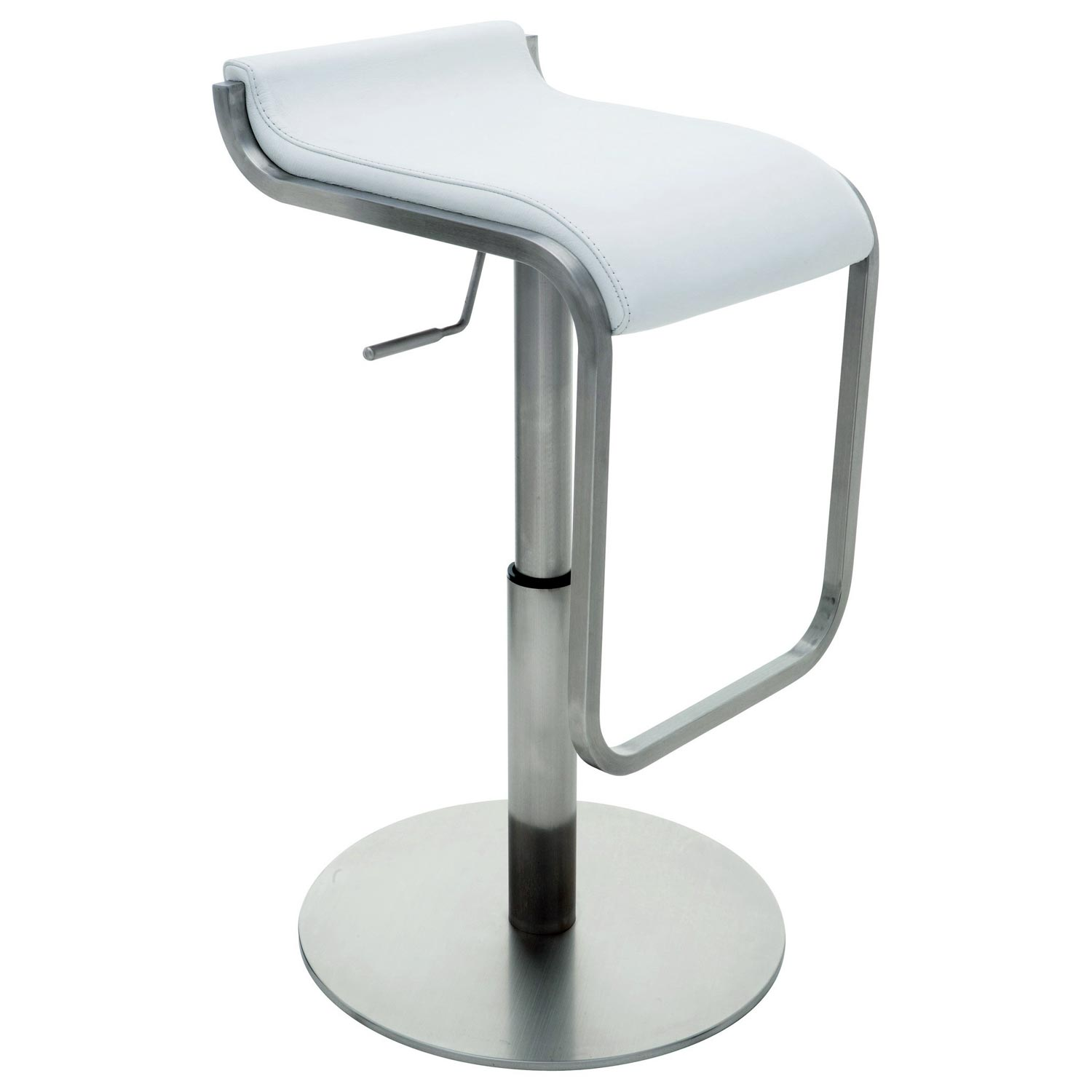 Adora Leather Piston Stool - NVO-HGBO13X-PS