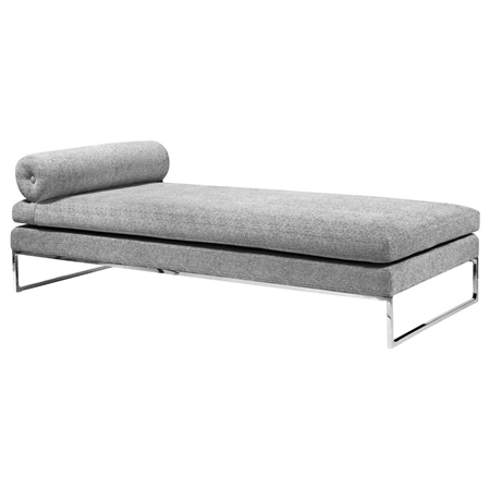Quba Modern Daybed Grey Fabric Dcg Stores