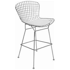 "Wireback 28.5"" Chrome Barstool"
