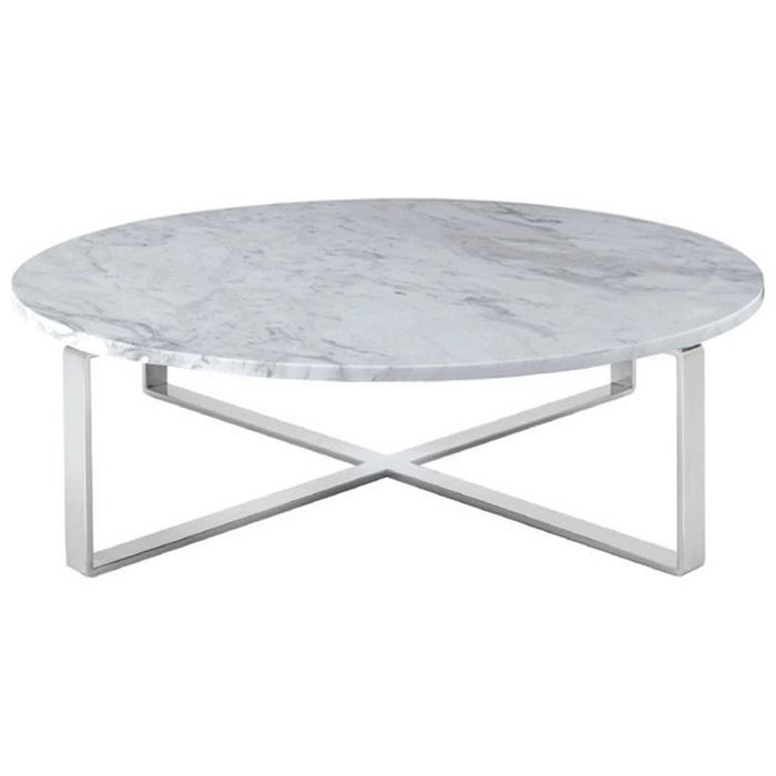 Rosa Round Marble Top Coffee Table Dcg Stores