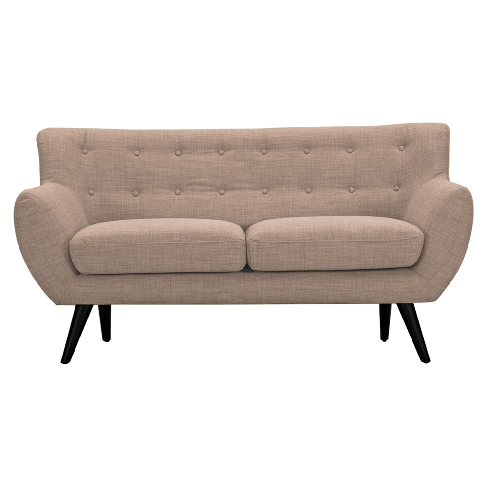 Ida Button Tufted Upholstery Loveseat Light Sand Dcg Stores