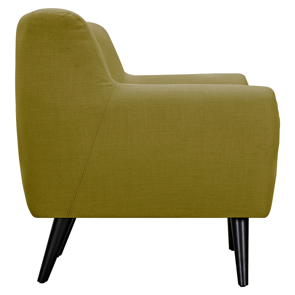 Ida button tufted upholstery armchair avocado green for Button tufted chaise settee green