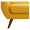 Ida Button Tufted Upholstery Sofa - Papaya Yellow - NYEK-223309