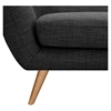 Ida Button Tufted Upholstery Loveseat- Charcoal Gray - NYEK-223322