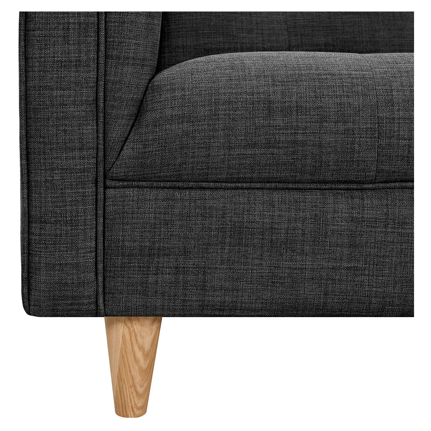 Kaja Sofa - Charcoal Gray, Tufted - NYEK-223340