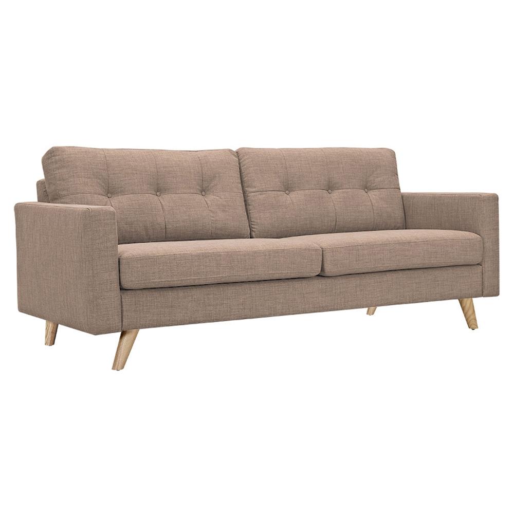 Uma sofa light sand button tufted dcg stores for Sofa bed uma
