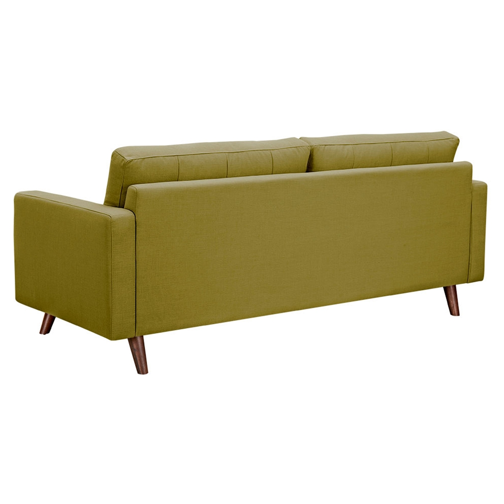 Uma sofa avocado green button tufted dcg stores for Button tufted chaise settee green