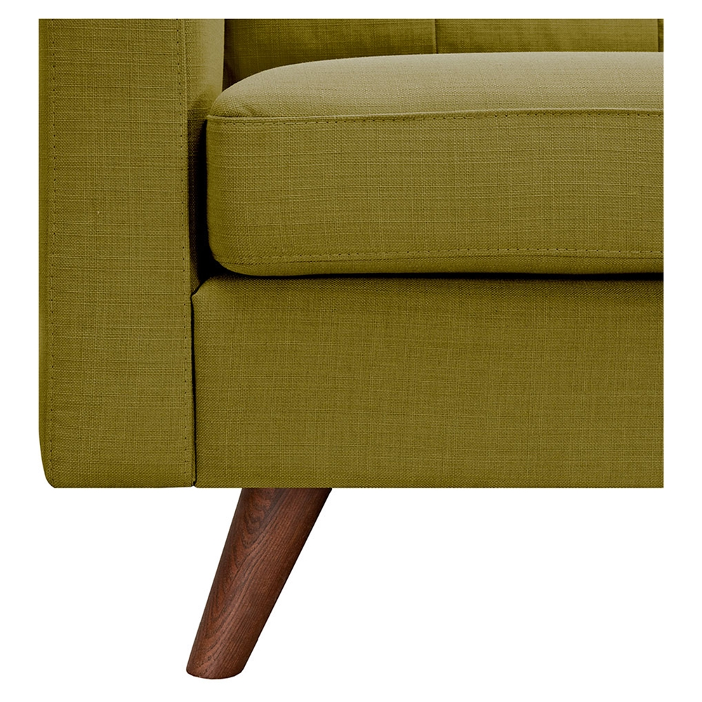 Uma armchair avocado green button tufted dcg stores for Button tufted chaise settee green