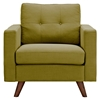 Uma Armchair - Avocado Green, Button Tufted - NYEK-223347