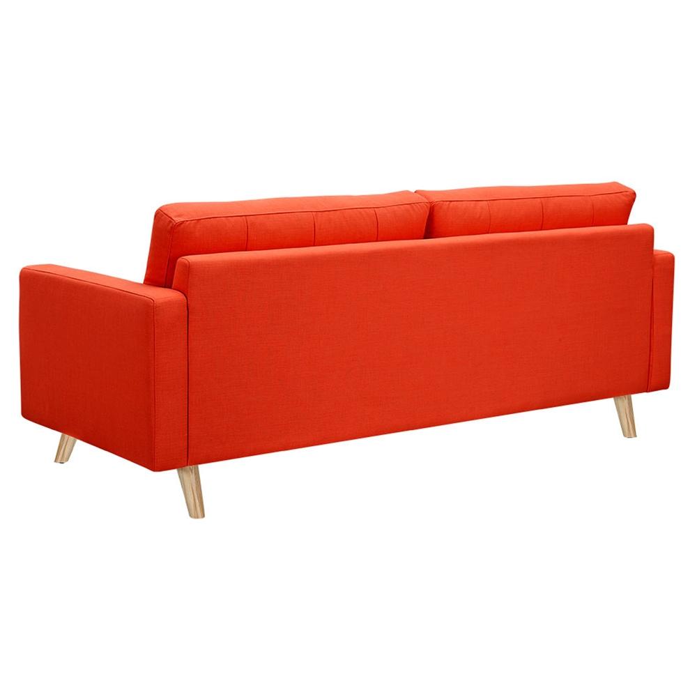 Uma Sofa Retro Orange Button Tufted Dcg Stores