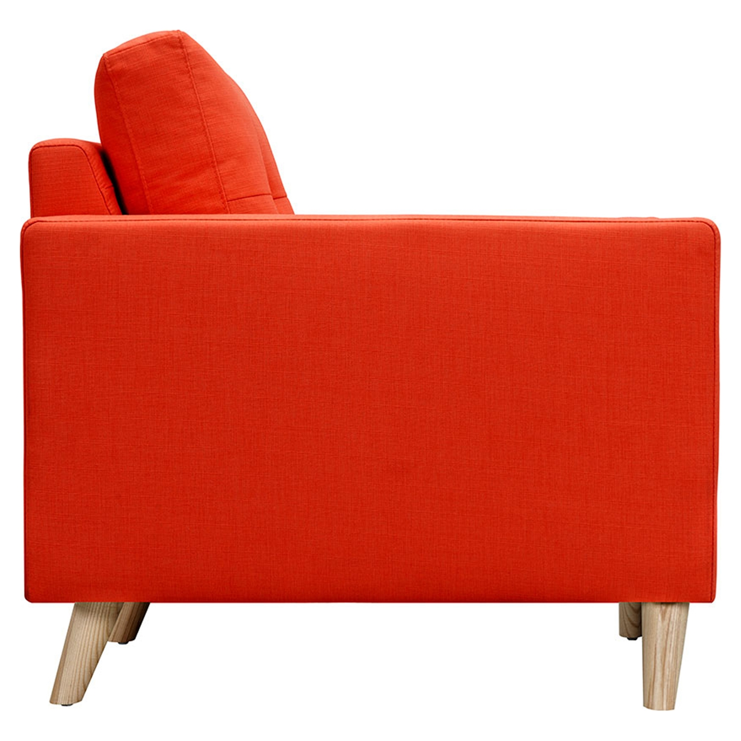 Uma Armchair - Retro Orange, Button Tufted - NYEK-223353