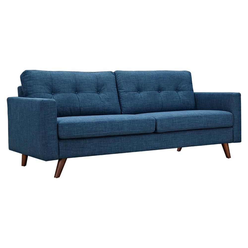 Uma sofa stone blue button tufted dcg stores for Sofa bed uma