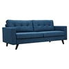 Uma Sofa - Stone Blue, Button Tufted - NYEK-223355