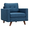Uma Armchair - Stone Blue, Button Tufted - NYEK-223356
