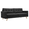 Uma Sofa - Charcoal Gray, Button Tufted - NYEK-223358