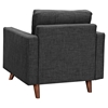 Uma Armchair - Charcoal Gray, Button Tufted - NYEK-223359