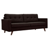 Uma Sofa - Mocha Brown, Button Tufted - NYEK-223361