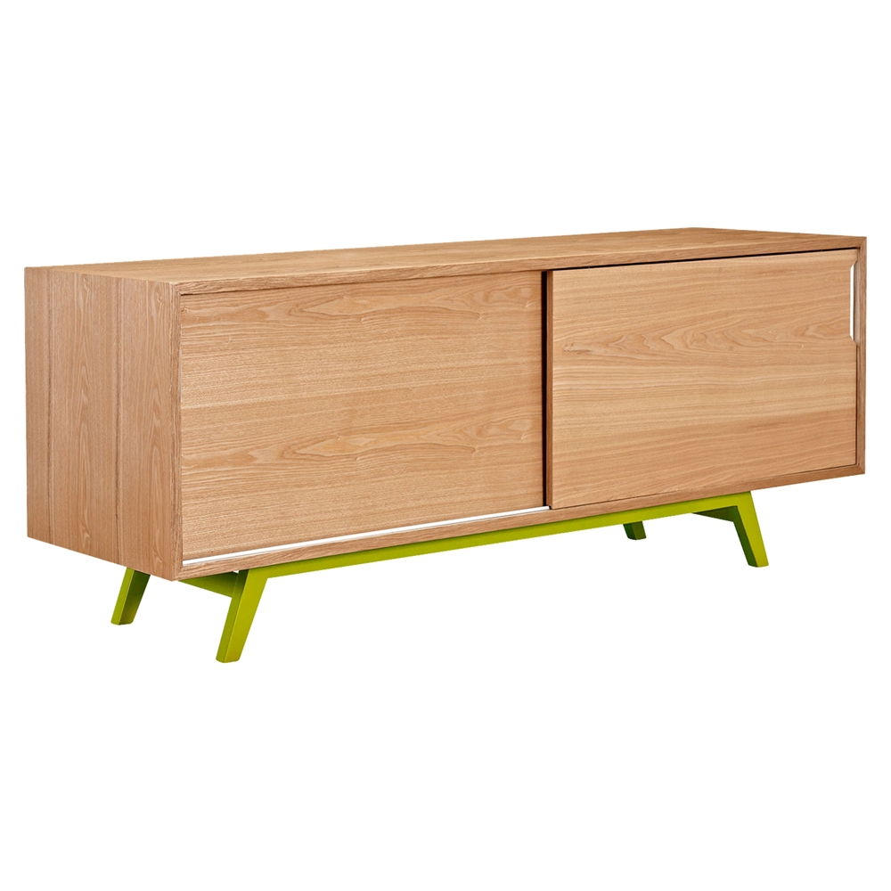 Elsa 2 sliding doors sideboard natural dcg stores for Sideboard natur