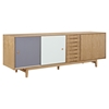 Alma 7 Drawers Sideboard - Natural with Gray Door - NYEK-224405-NGR