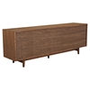 Alma 2 Sliding Doors Sideboard - Walnut with Gray Door - NYEK-224407-WGR