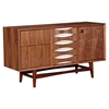 Hanna Sideboard - Walnut and White - NYEK-224421-A