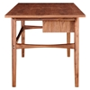 Hanna Office Desk - Walnut and Green - NYEK-224423-C