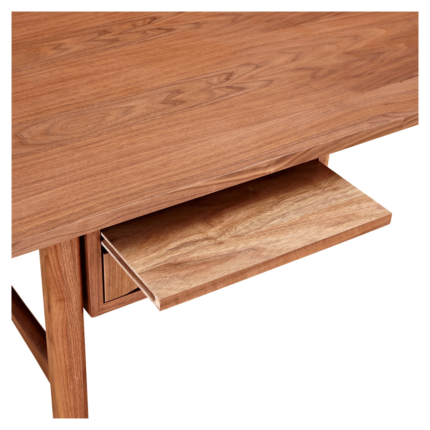 Hanna Office Desk - Walnut and Metallic Brass - NYEK-224423-D
