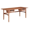 Hanna Office Desk - Walnut and White - NYEK-224423-A