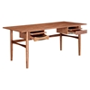 Hanna Office Desk - Walnut and Black - NYEK-224423-B