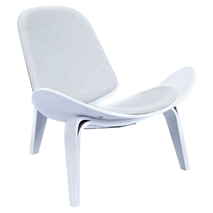 Shell Accent Chair - Oatmeal Gray