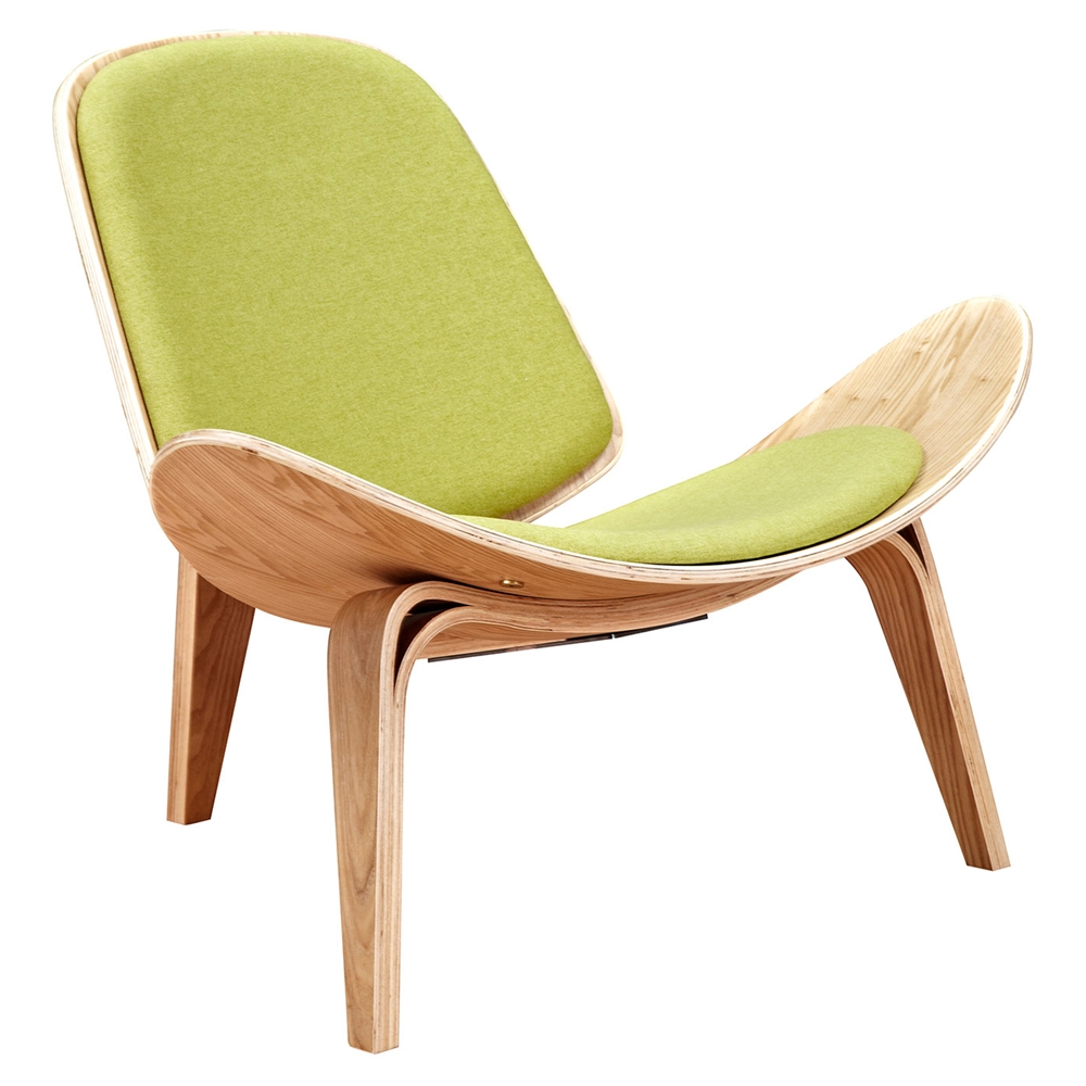 Shell Accent Chair Avocado Green Dcg Stores