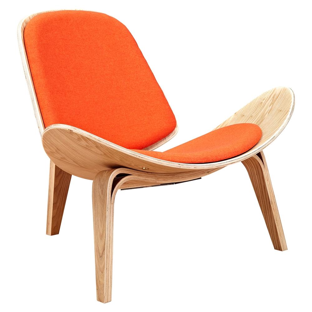 Shell Accent Chair Retro Orange Dcg Stores