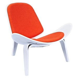 Shell Accent Chair - Retro Orange