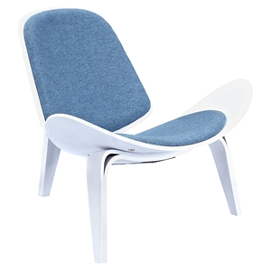 Shell Accent Chair - Dodger Blue
