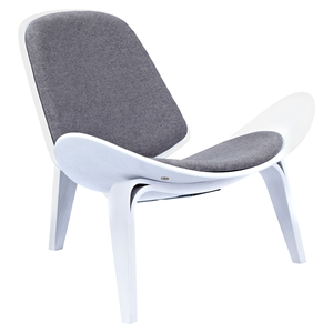 Shell Accent Chair - Steel Gray
