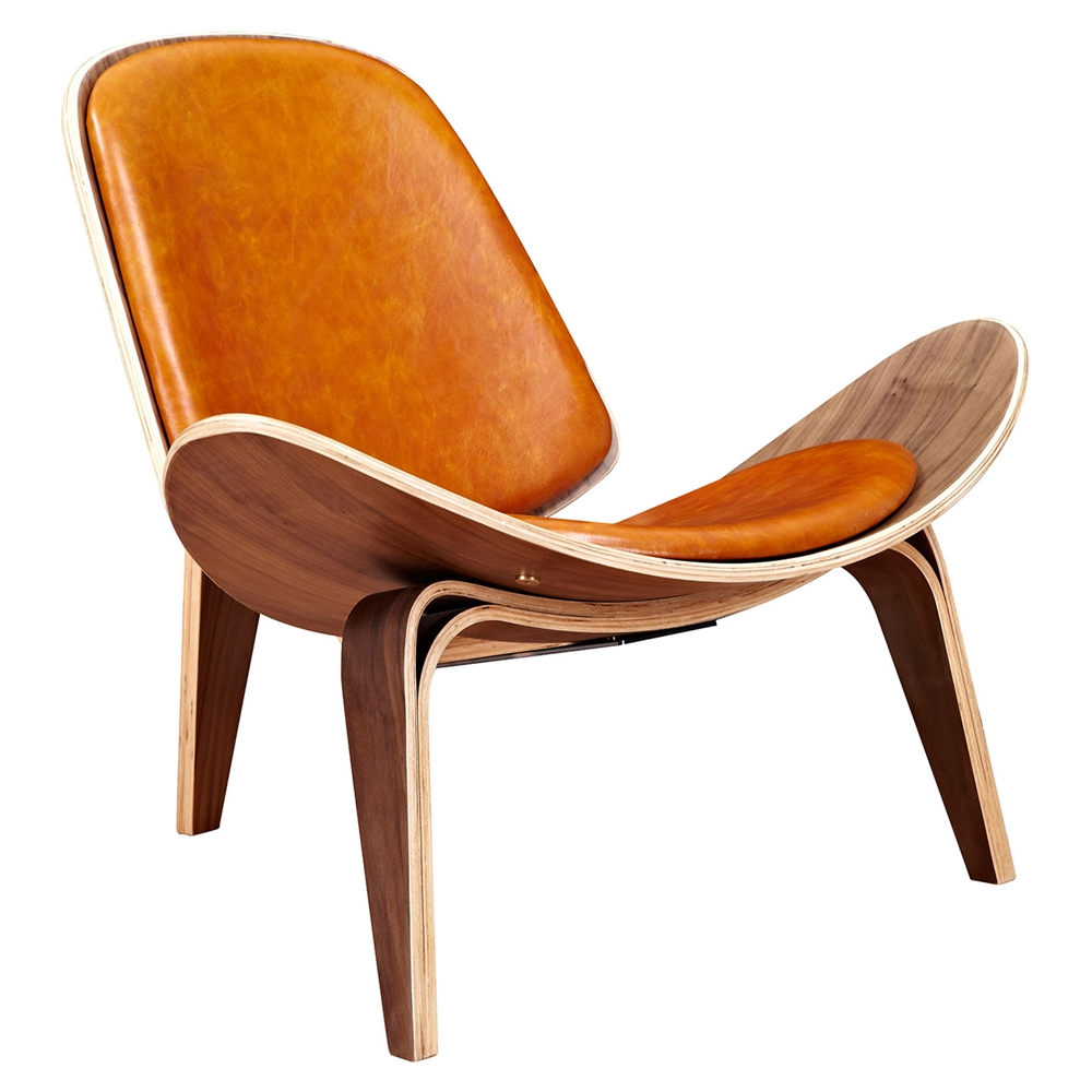 Shell accent chair burnt orange dcg stores for Burnt orange accent chair