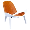 Shell Accent Chair - Burnt Orange - NYEK-224438