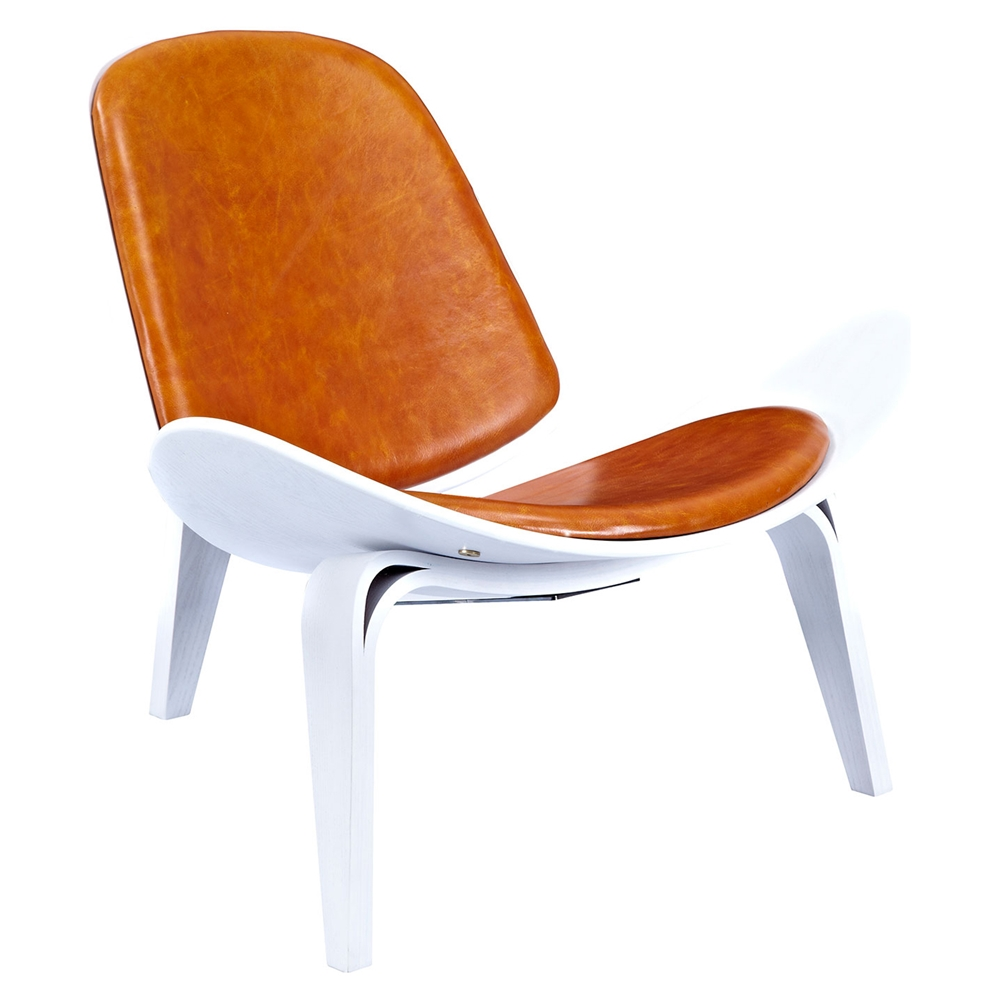 Burnt Orange Accent Wall: Shell Accent Chair - Burnt Orange