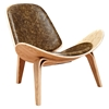 Shell Accent Chair - Plaermo Olive - NYEK-224439
